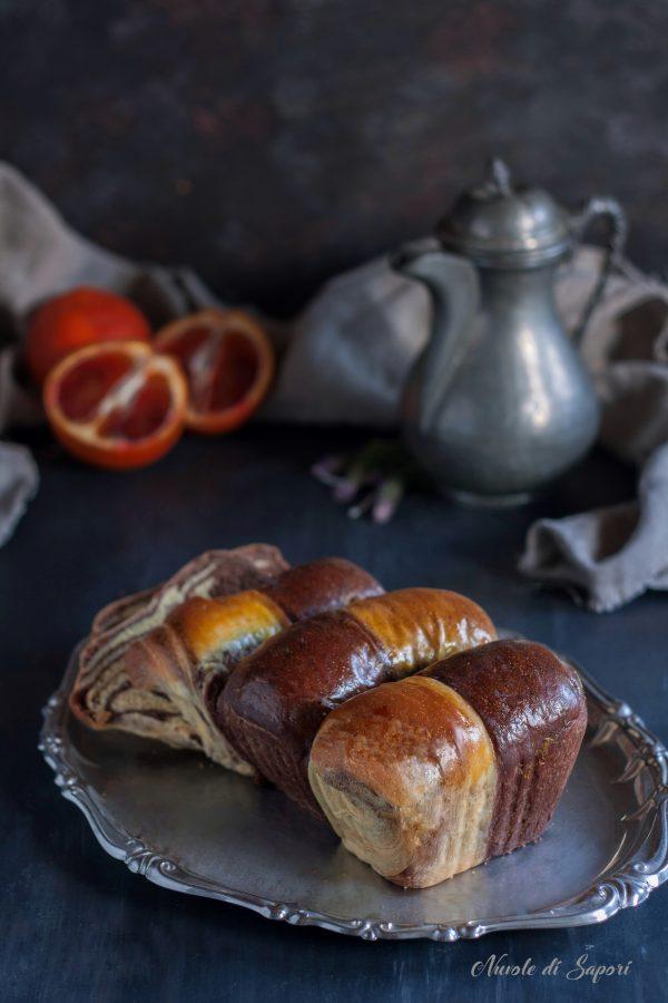 Panbrioche arancia e cioccolato