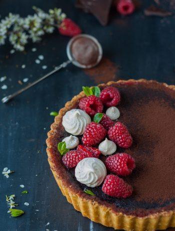 crostata cioccolato e lamponi di Yotam Ottolenghi