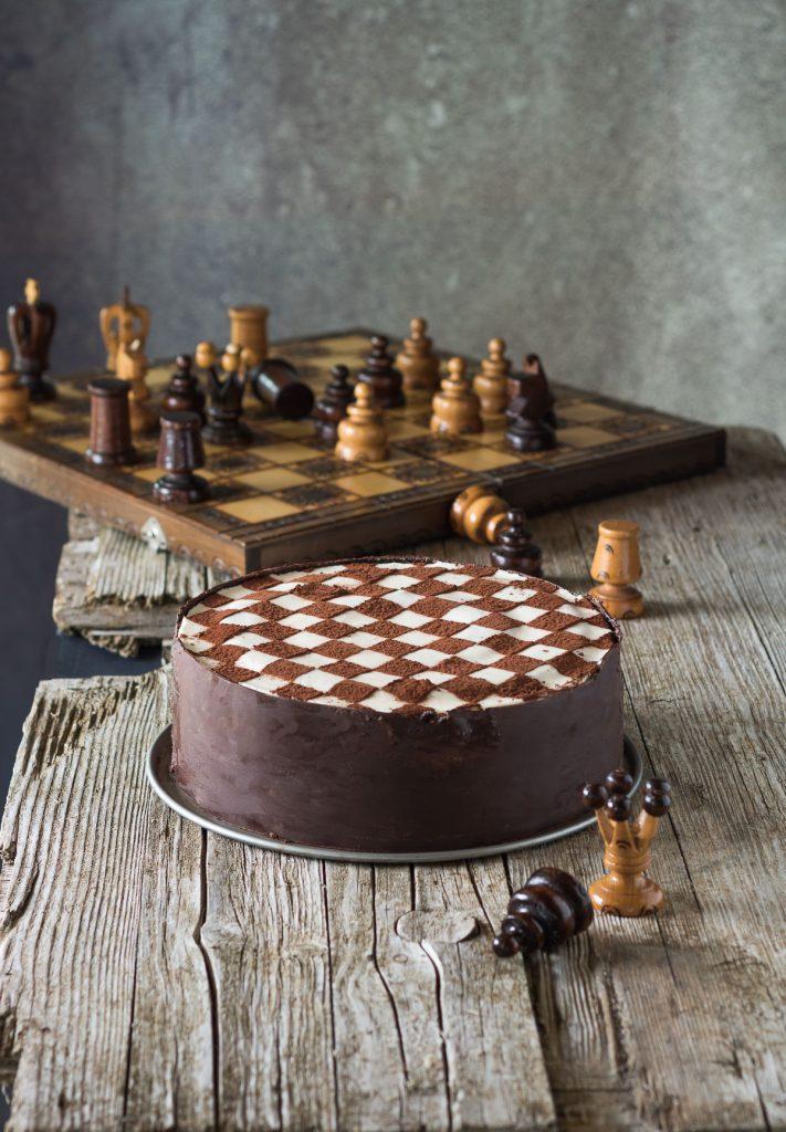 torta oreo scacchi