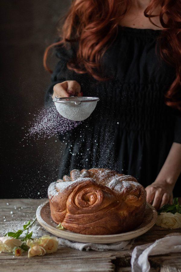 ciambella lievitata zucchero