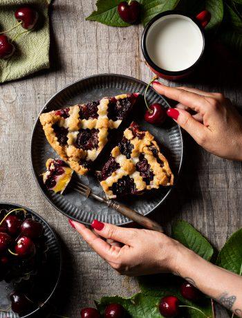 crostata crema e ciliegie